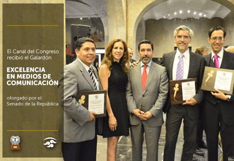 El Canal del Congreso recibió el Galardón a la Excelencia en Medios de Comunicación otorgado por el Senado de la República