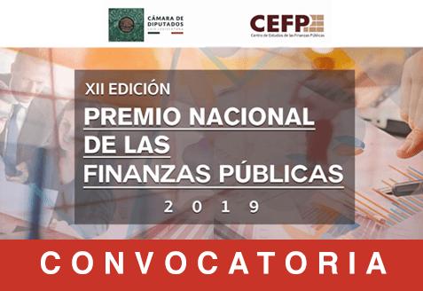 Consulta la convocatoria de la doceava edición del premio nacional de las finanzas públicas 2019.