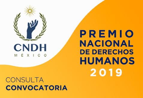 Convocatoria al Premio Nacional de Derechos Humanos 2019