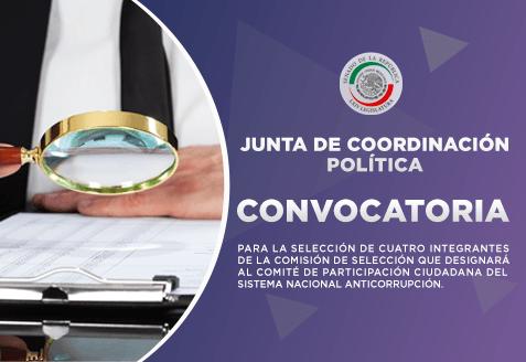 Convocatoria para la selección de cuatro integrantes de la Comisión de Selección que designará al Comité de Participación Ciudadana del Sistema Nacional Anticorrupción.