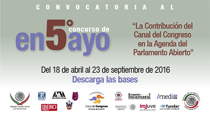 Convocatoria al 5 concurso de ensayo del Canal del Congreso