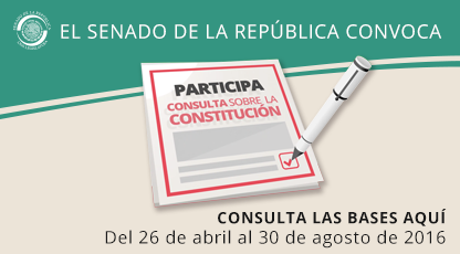 El Senado de la República convoca a participar en la consulta sobre la Constitución