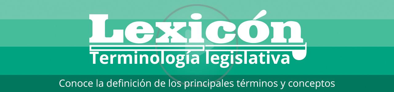 Lexicón -Terminología legislativa