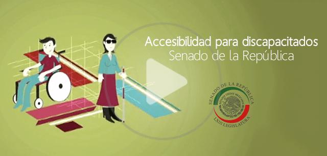 Accesibilidad para discapacitados. Senado de la República