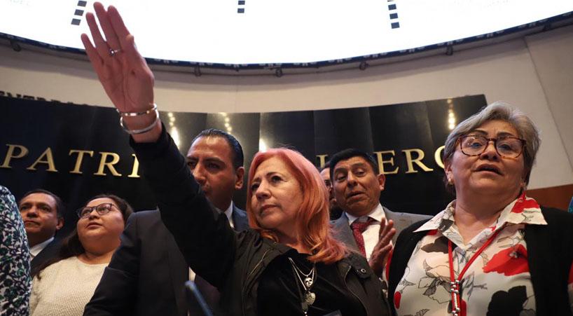 Rinde+protesta+ante+Senado+Rosario+Piedra+Ibarra+como+titular+de+CNDH