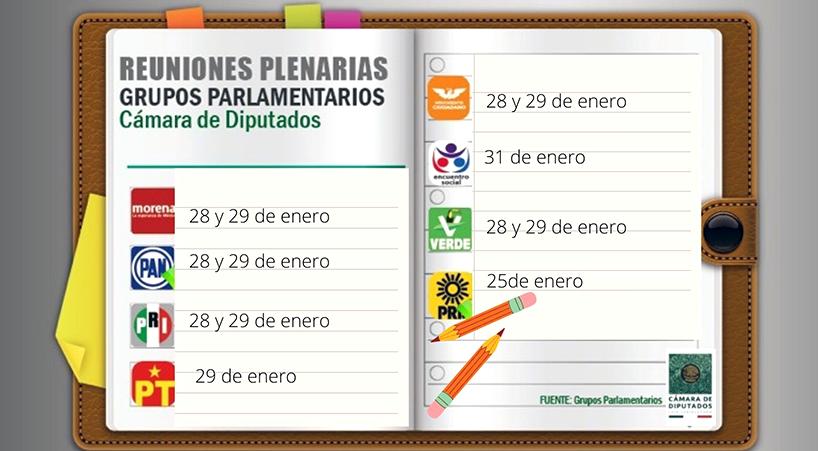 Grupos+Parlamentarios+de+la+C%C3%A1mara+de+Diputados+celebrar%C3%A1n+reuniones+plenarias+