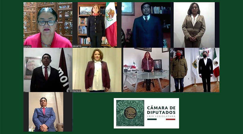 Presidenta+de+la+C%C3%A1mara+de+Diputados+toma+protesta+constitucional+a+ocho+legisladores+