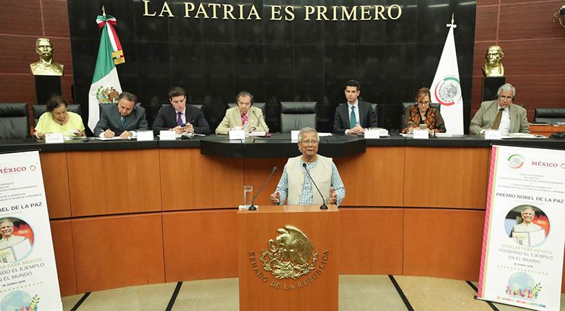 En+Senado+de+la+Rep%C3%BAblica%2C+se+re%C3%BAnen+con+el+Premio+Nobel+de+la+Paz+2006