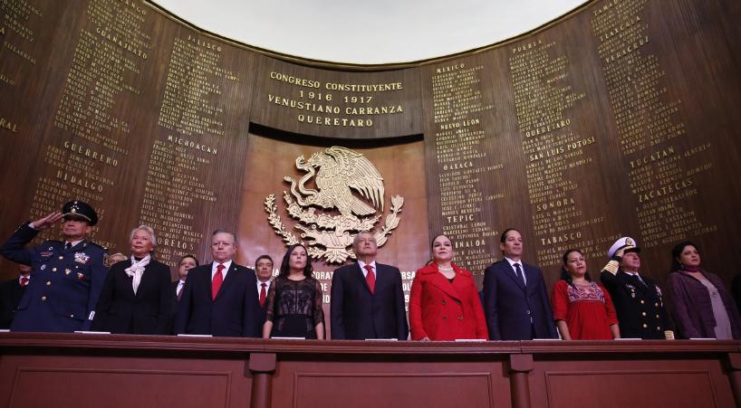 Presidentas+de+ambas+C%C3%A1maras+del+Congreso+de+la+Uni%C3%B3n+asisten+al+103+Aniversario+de+la+Constituci%C3%B3n+de+1917