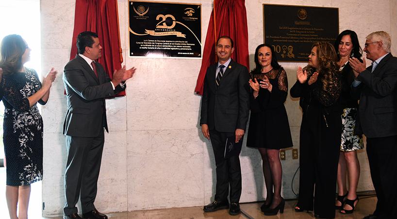 Develan+placa+conmemorativa+por+el+vig%C3%A9simo+aniversario+del+Canal+del+Congreso
